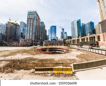 Chicago, IL - March 21st, 2018: The developer behind the proposed Chicago Spire filed a federal lawsuit in February against the Irish government after losing control of the now vacant site in 2014.