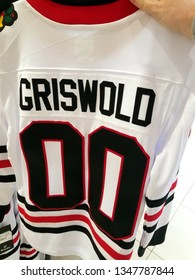 Chicago, IL November 24, 2018, Griswold Chicago Blackhawks Jersey idea from National Lampoon's Christmas Vacation
