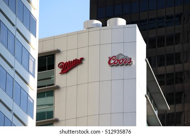 CHICAGO, IL - OCTOBER 2016: Miller and Coors corporate offices in Chicago, IL.