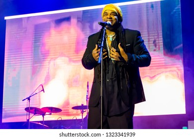 Chicago, IL, United States - February 23, 2019: The Original Voices of Enigma performing live in Chicago., Illniois.