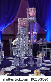 CHICAGO IL USA December 27 2019  close up of fancy candle centerpieces for wedding