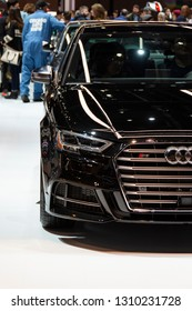 Chicago, IL, USA - February 10, 2019: Audi S3 on display at the 2019 Chicago Auto Show.