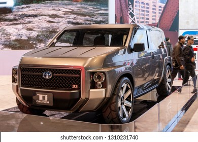 Chicago, IL, USA - February 10, 2019: Toyota TJ Cruiser concept car on display at the 2019 Chicago Auto Show.