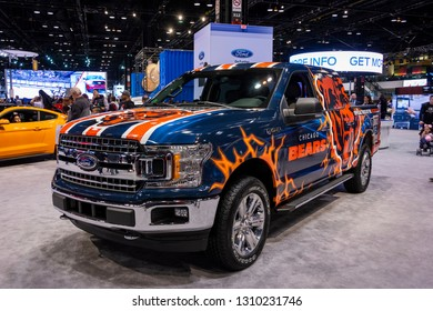 Chicago, IL, USA - February 10, 2019: Official car of the Chicago Bears football team.