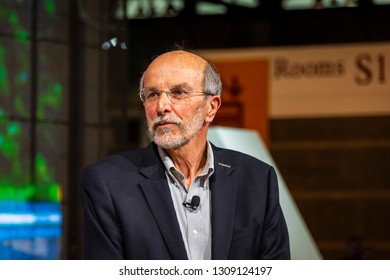 Chicago, IL, USA - February 7, 2019: Csaba Csere, former editor-in-chief of Car and Driver Magazine at the 2019 Chicago Auto Show.