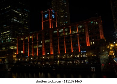 CHICAGO, IL, USA - JANUARY 13, 2018 The Reid, Murdoch & Co. Building is located along the Chicago River and was built in 1913. It is a popular building on river architecture tours.