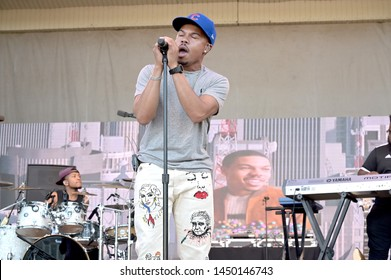 Chicago, IL / USA - July 12, 2019: Taylor Bennett performs at 2019 Taste of Chicago at Petrillo Music Shell in Grant Park