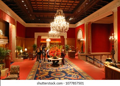 Chicago, IL, USA March 12, 2008 The lobby of the exquisite Drake Hotel in Chicago recalls an era of grand hotels and elegant design
