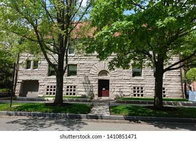 CHICAGO, IL/ USA - MAY 15, 2019:  The restored Glessner House on the south side of Chicago, one of the early mansions owned by millionaires.