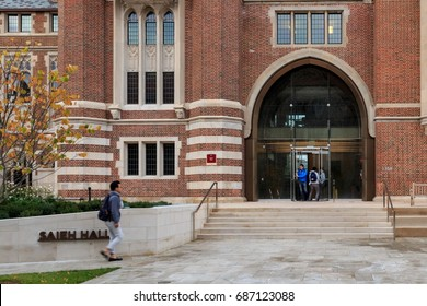 CHICAGO, IL, USA - NOVEMBER 4, 2014: Saieh Hall of Economics at the University of Chicago campus in Chicago, IL, USA in November 2014.