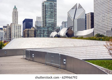 Chicago, IL, USA, october 2016: public BP walkway in Millenium park in Chicago, IL. Millenium Park is the second most popular public attraction in the city of Chicago.
