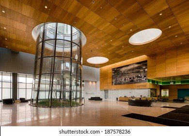 CHICAGO, ILLINOIS - APRIL 15: Terrarium in the lobby of the Rush University Medical Center on April 15, 2014 in Chicago, Illinois