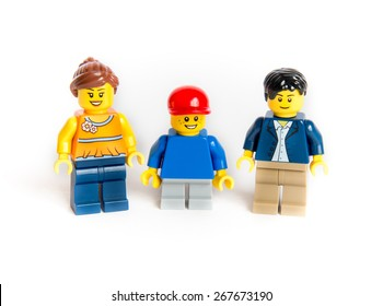 Chicago, Illinois April 8, 2015 : Clean and Nice Image  of group of Lego mini figure