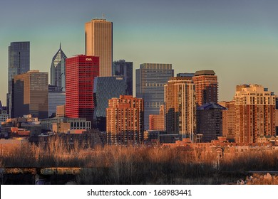 CHICAGO, ILLINOIS - DECEMBER 28: Chicago skyline from the south side of the city on December 28, 2013 in Chicago, Illinois