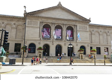 CHICAGO, ILLINOIS - JUL 21: The Art Institute of Chicago has one of the world's most notable collections of Impressionist and Post-Impressionist art, on July 21, 2012 in Chicago, Illinois, USA.