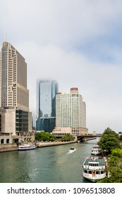 CHICAGO, ILLINOIS - June 24, 2014: Chicago, besides being a major business center and transportation hub, is a huge tourist destination, attracting over 40 million visitors annually