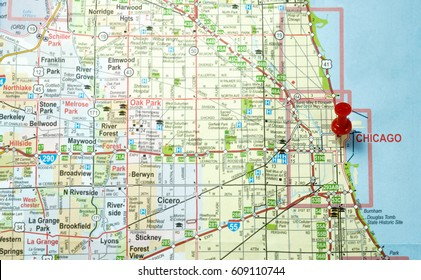 Chicago Area Map Stock Photos, Images & Photography ...