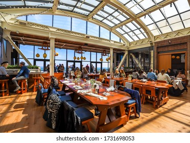 CHICAGO, ILLINOIS - MARCH 12, 2019: Cindy's Rooftop Restaurant at Chicago Athletic Association Hotel on the Michigan Avenue