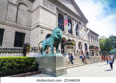 CHICAGO, ILLINOIS - SEP 28: The Art Institute of Chicago has one of the world's most notable collections of Impressionist and Post-Impressionist art, on September 28, 2014 in Chicago, Illinois, USA.