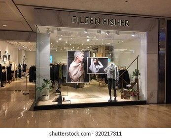 Chicago, Illinois - September 24, 2015 - Eileen Fisher store in the Water Tower Place shopping mall on Chicago's Michigan Avenue