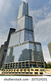 Chicago, Illinois - September 5, 2015: The Trump International Hotel & Tower in Chicago. The Trump Tower was completed in 2008.