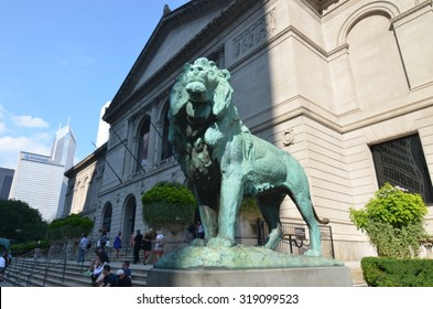 CHICAGO, ILLINOIS - September 7, 2015: The Art Institute of Chicago has one of the world's most notable collections of Impressionist and Post-Impressionist art, Chicago, Illinois, USA.