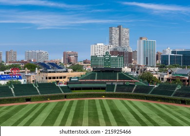 CHICAGO, ILLINOIS - SEPTEMBER 8: An empty Wrigley Field on September 8, 2014 in Chicago, Illinois