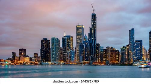 Chicago Skyline Images, Stock Photos & Vectors | Shutterstock