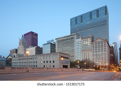 Chicago, Illinois, United States - May 06, 2011: The Art Institute of Chicago and buildings at Michigan Avenue.