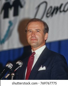 Chicago, Illinois. USA, 11th, May, 1987 Senator Joe Biden a presidential aspirant, one of  the featured speakers Monday night at what has was billed as an Illinois Democratic ``Unity Dinner.``