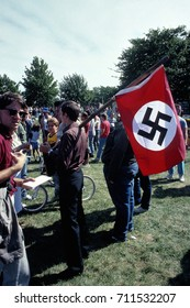 Chicago Illinois, USA, 28th August,1988 Fourteen people were arrested, but there were no clashes between groups that gathered separately in Marquette Park on Sunday for a Ku Klux Klan rally