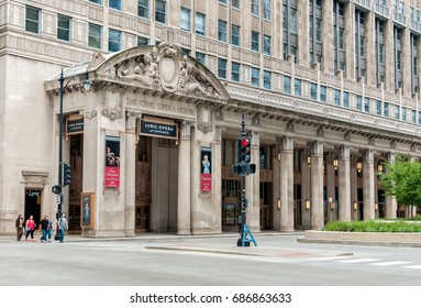 Chicago, Illinois, USA - August 16, 2014: Civic Opera House in Chicago, today it is the permanent home of the Lyric Opera of Chicago.