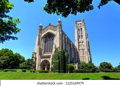 Chicago, Illinois, USA - June 23, 2018  - The University of Chicago, located in the Hyde Park neighborhood.