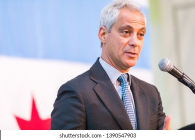 CHICAGO, ILLINOIS/ USA MAY 30, 2018 CHICAGO MAYOR RAHM EMANUEL GIVES SPEECH AT 2018 MAYORAL ANNUAL IFTAR