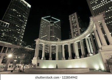 Chicago Illinois USA - Millennium Park at Night. American Architecture Photography Collection