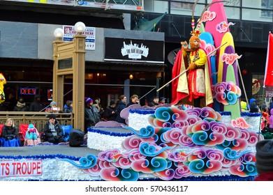 Chicago, Illinois - USA - November 24, 2016: Monkey King in McDonald's Thanksgiving Parade