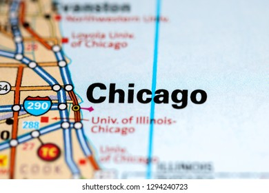 Illinois Chicago Map.Chicago Illinois Map Stock Photos Images Photography Shutterstock