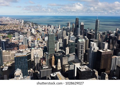 Chicago, Illinois/USA-10/20/2016:View of Chicago from Willis tower.