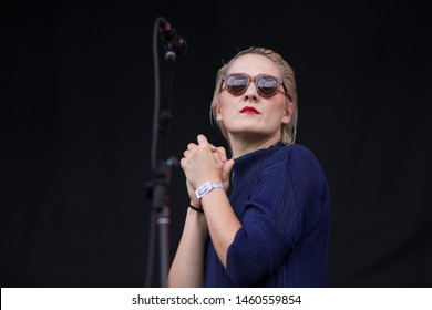 Chicago, IL/USA: 7/20/19: Cate Timothy aka Cate Le Bon performs at Pitchfork Music Festival. She's a Welsh musician who's released five solo albums, three EPs.
