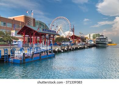Chicago, IL/USA - circa July 2015: Navy Pier in Chicago, Illinois