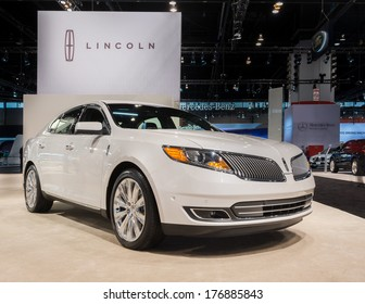 CHICAGO, IL/USA - FEBRUARY 6: A 2014 Lincoln MKS car at the Chicago Auto Show (CAS) on February 6, 2014, in Chicago, Illinois.