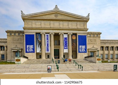 CHICAGO, IL/USA - JULY 23, 2018:  The Field Museum on the Museum Campus in Chicago is a major tourist attraction.