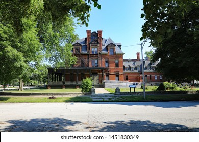 CHICAGO, IL/USA - JULY 8, 2019: The Pullman National Monument, is a former industrial town built in the 1880s  as a planned community, where they built passenger train cars.