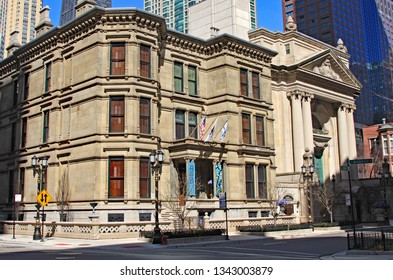 CHiCAGO, IL/USA - MARCH 30, 2009:  The Richard Driehaus Museum in downtown Chicago is in a restored former mansion, in the River North neighborhood.  It contains his collection of antiques.