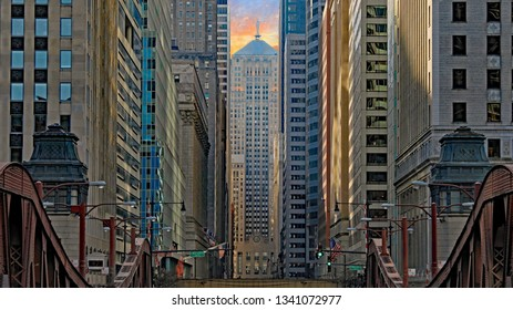 CHICAGO, IL/USA - MARCH 4, 2019:  The Chicago Board of Trade in downtown Chicago, in the Loop.