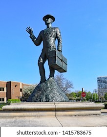 CHICAGO, IL/USA - MAY 14, 2019:  Great Northern Migration Monument in Chicago on the South Side.