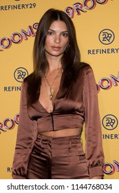 "CHICAGO - JUL 25: Model Emily Ratajkowski attends Refinery29's ""29Rooms: Turn it Into Art,"" on July 25, 2018 in Chicago, Illinois."