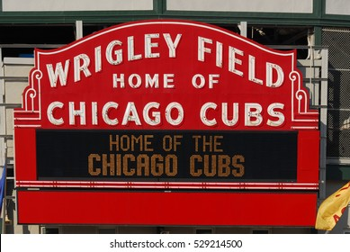 Chicago - June 11, 2007: The Wrigley Field Baseball Stadium is Home of the Chicago Cubs since 1916. It can seat 41,019.