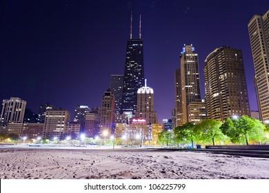 Chicago Lake Shore Drive at Night