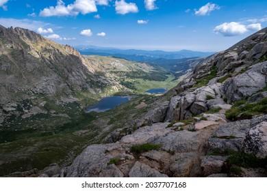 Chicago Lakes Overlook Trail le long de la route panoramique Mt Evans, au Colorado
